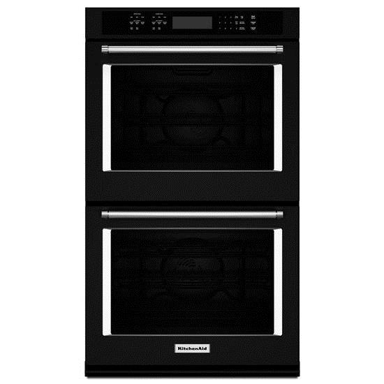 "KitchenAid Built-In Electric Double Ovens 8.6 Cu. Ft. 27"" Double Wall Oven - Item Number: KODE507EBL"
