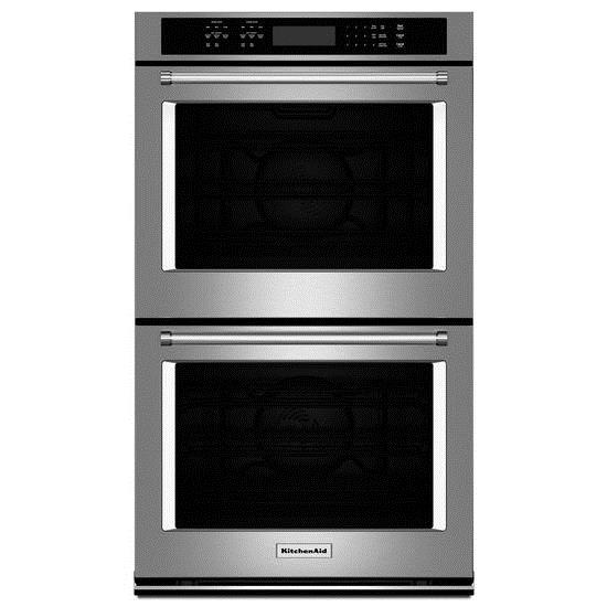 """KitchenAid Built-In Electric Double Ovens 8.6 Cu. Ft. 27"""" Double Wall Oven - Item Number: KODE507ESS"""