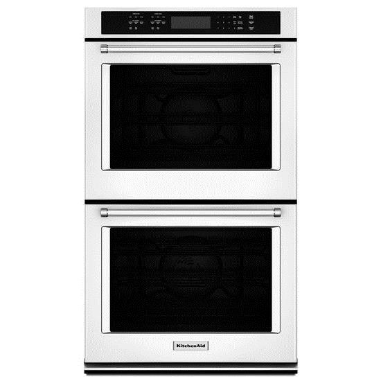 """KitchenAid Built-In Electric Double Ovens 8.6 Cu. Ft. 27"""" Double Wall Oven - Item Number: KODE507EWH"""