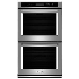 "KitchenAid Built-In Electric Double Ovens 27"" 8.6 cu. ft. Double Wall Oven"