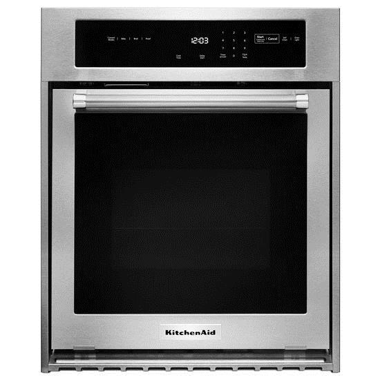 "KitchenAid Built-In Electric Single Oven 24"" Single Electric Wall Oven  - Item Number: KOSC504ESS"