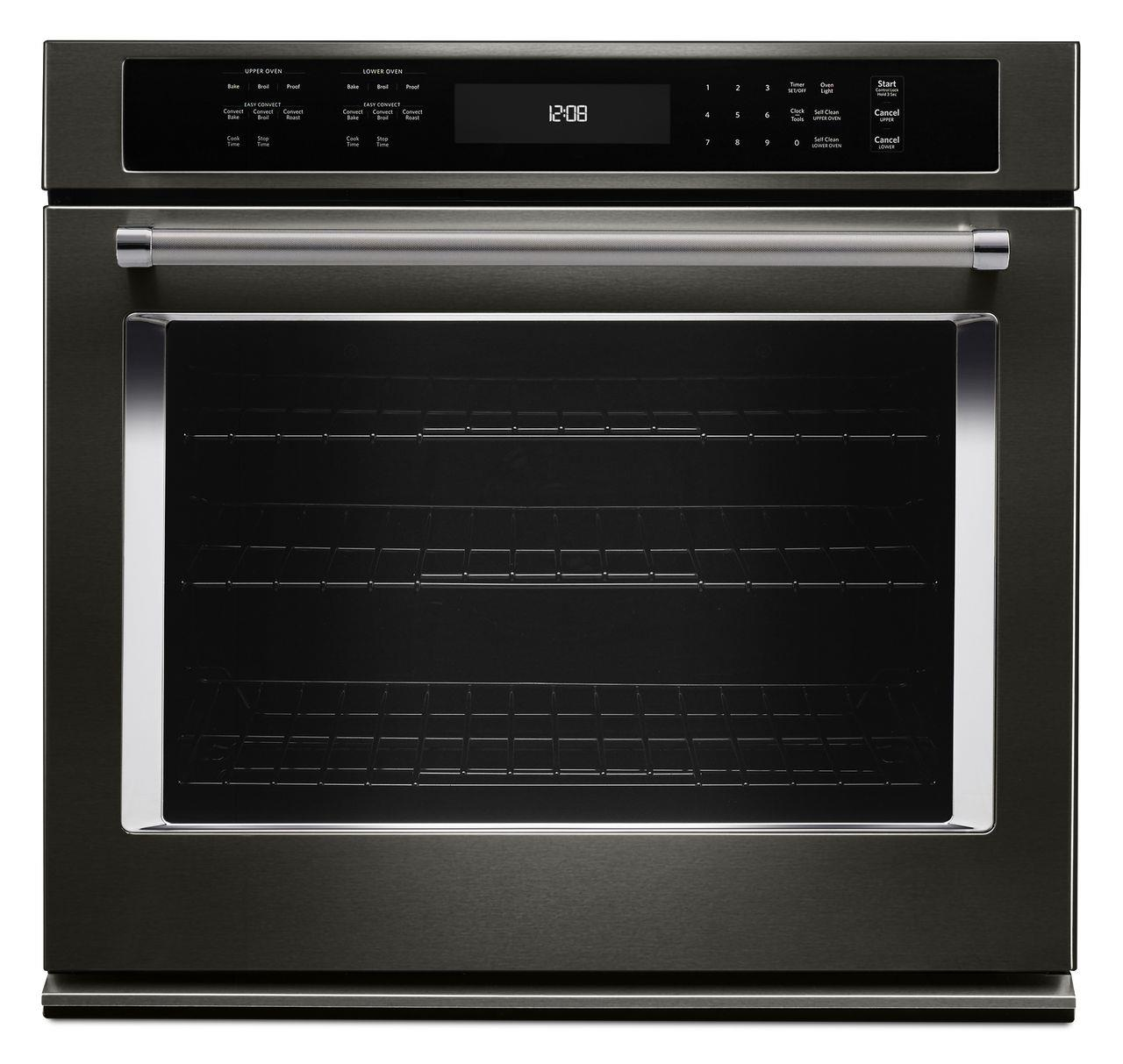 """KitchenAid Built-In Electric Single Oven 30"""" 5.0 Cu. Ft. Convection Single Wall Oven - Item Number: KOSE500EBS"""