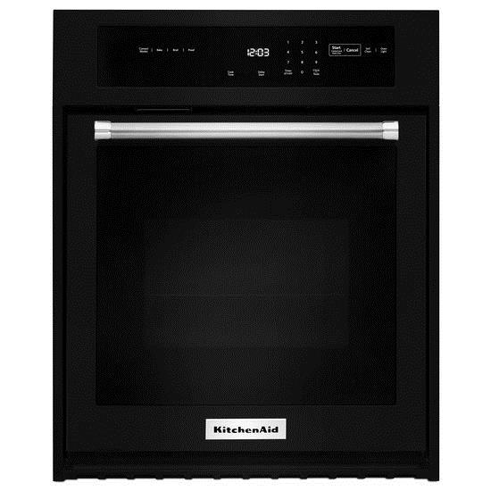 """KitchenAid Built-In Electric Single Oven 27"""" 4.3 cu. ft. Single Wall Oven - Item Number: KOSE507EBL"""