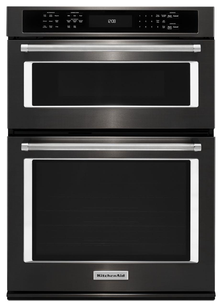 """KitchenAid Combination Oven with Microwave 30"""" 5.0 Cu. Ft. Oven / Microwave Combo - Item Number: KOCE500EBS"""