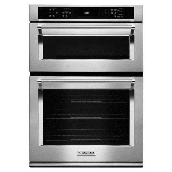 "KitchenAid Combination Oven with Microwave 30"" 5.0 Cu. Ft. Oven / Microwave Combo - Item Number: KOCE500ESS"