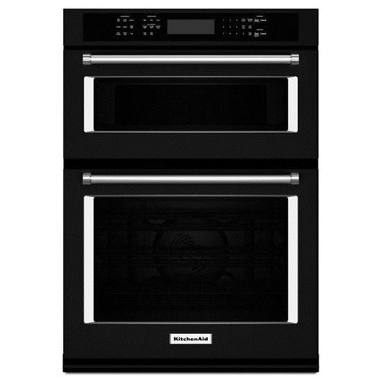 "KitchenAid Combination Oven with Microwave 27"" Combination Wall Oven - Item Number: KOCE507EBL"