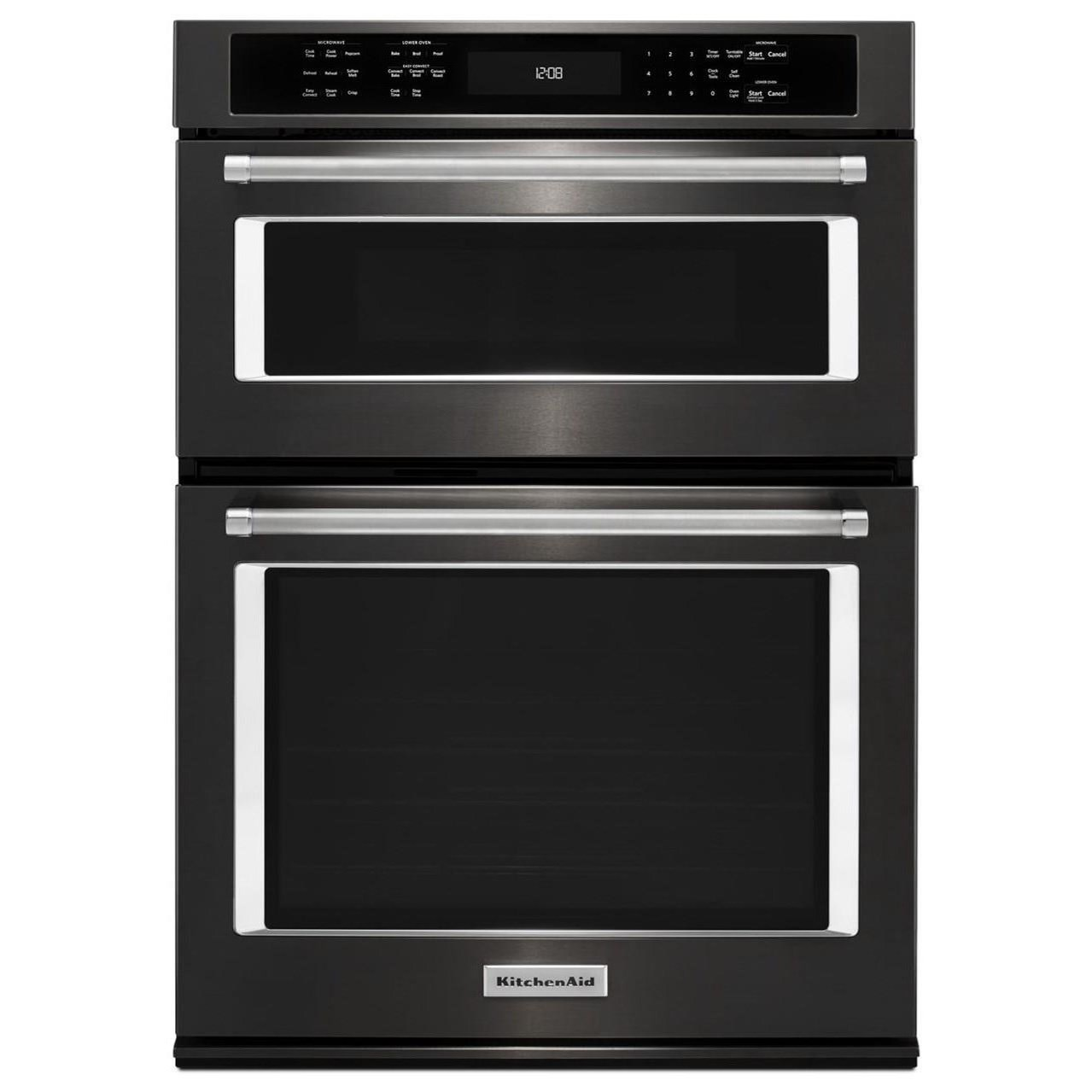 """KitchenAid Combination Oven with Microwave 27"""" Combination Wall Oven - Item Number: KOCE507EBS"""