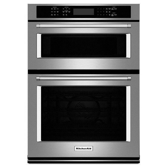 "KitchenAid Combination Oven with Microwave 27"" Combination Wall Oven - Item Number: KOCE507ESS"