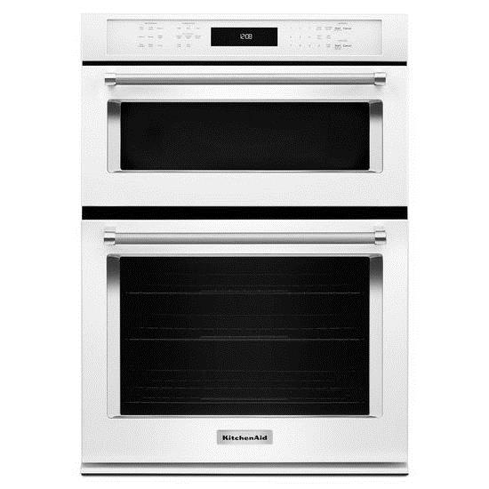 """KitchenAid Combination Oven with Microwave 27"""" Combination Wall Oven - Item Number: KOCE507EWH"""