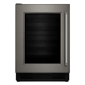 "KitchenAid Compact Refrigeration 24"" Panel Ready Beverage Center"