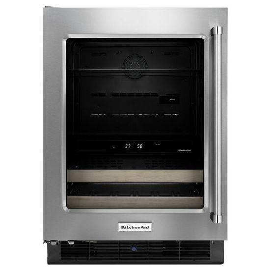 "KitchenAid Compact Refrigeration 24"" Panel Ready Beverage Center - Item Number: KUBL204ESB"