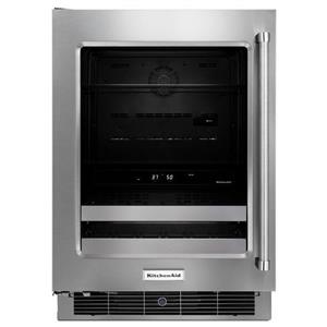 "KitchenAid Compact Refrigeration 24"" Stainless Steel Beverage Center"