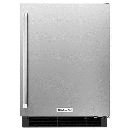 "KitchenAid Compact Refrigeration 24"" Panel Ready Undercounter Refrigerator - Item Number: KURR104ESB"