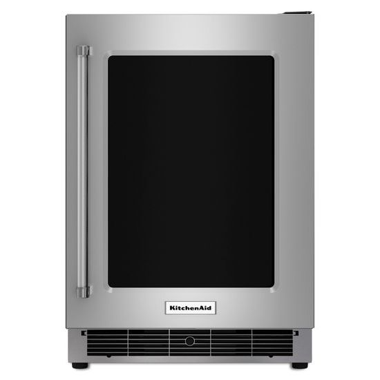 "KitchenAid Compact Refrigeration 24"" Undercounter Refrigerator - Item Number: KURR304ESS"