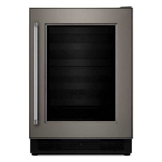 "KitchenAid Compact Refrigeration 24"" Panel Ready Wine Cellar - Item Number: KUWR204EPA"