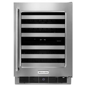 "KitchenAid Compact Refrigeration 24"" Stainless Steel Wine Cellar"