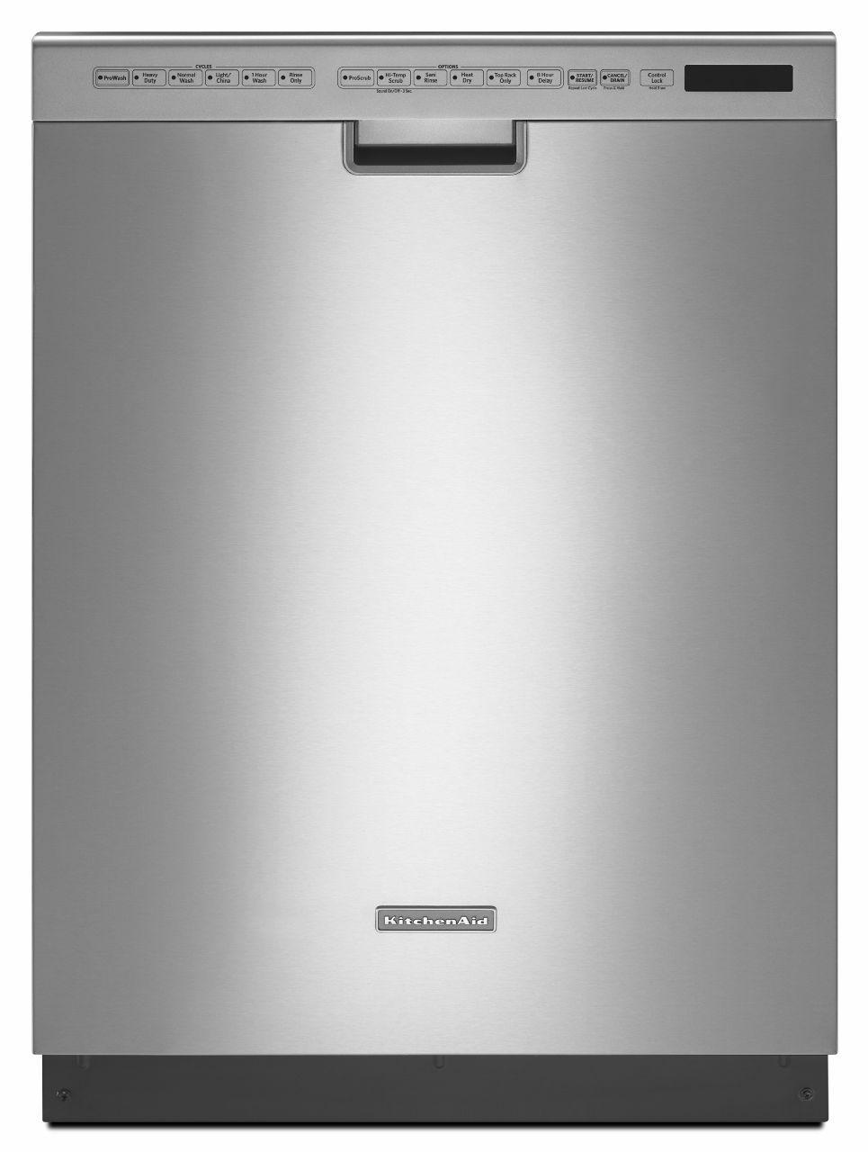 "KitchenAid Dishwashers 24"" Built-In Dishwasher - Item Number: KDFE454CSS"