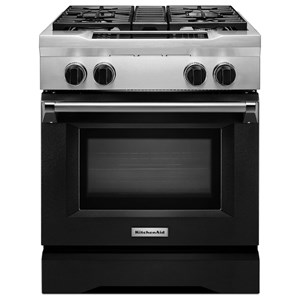 "KitchenAid Dual Fuel Ranges 30"" Freestanding Dual Fuel Range"