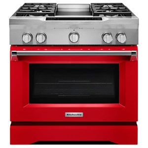 "KitchenAid Dual Fuel Ranges 36"" Freestaning Dual Fuel Range"