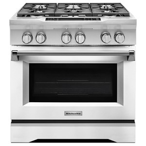 "KitchenAid Dual Fuel Ranges 36"" Freestanding Dual Fuel Range"