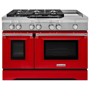 "KitchenAid Dual Fuel Ranges 48"" Freestanding Dual Fuel Range"
