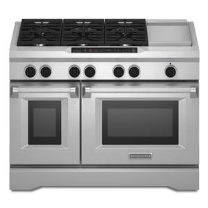 "KitchenAid Dual Fuel Ranges 48"" Freestanding Dual Fuel Range"