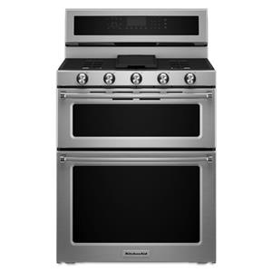 "KitchenAid Dual Fuel Ranges 30"" Dual Fuel Double Oven Convection Range"