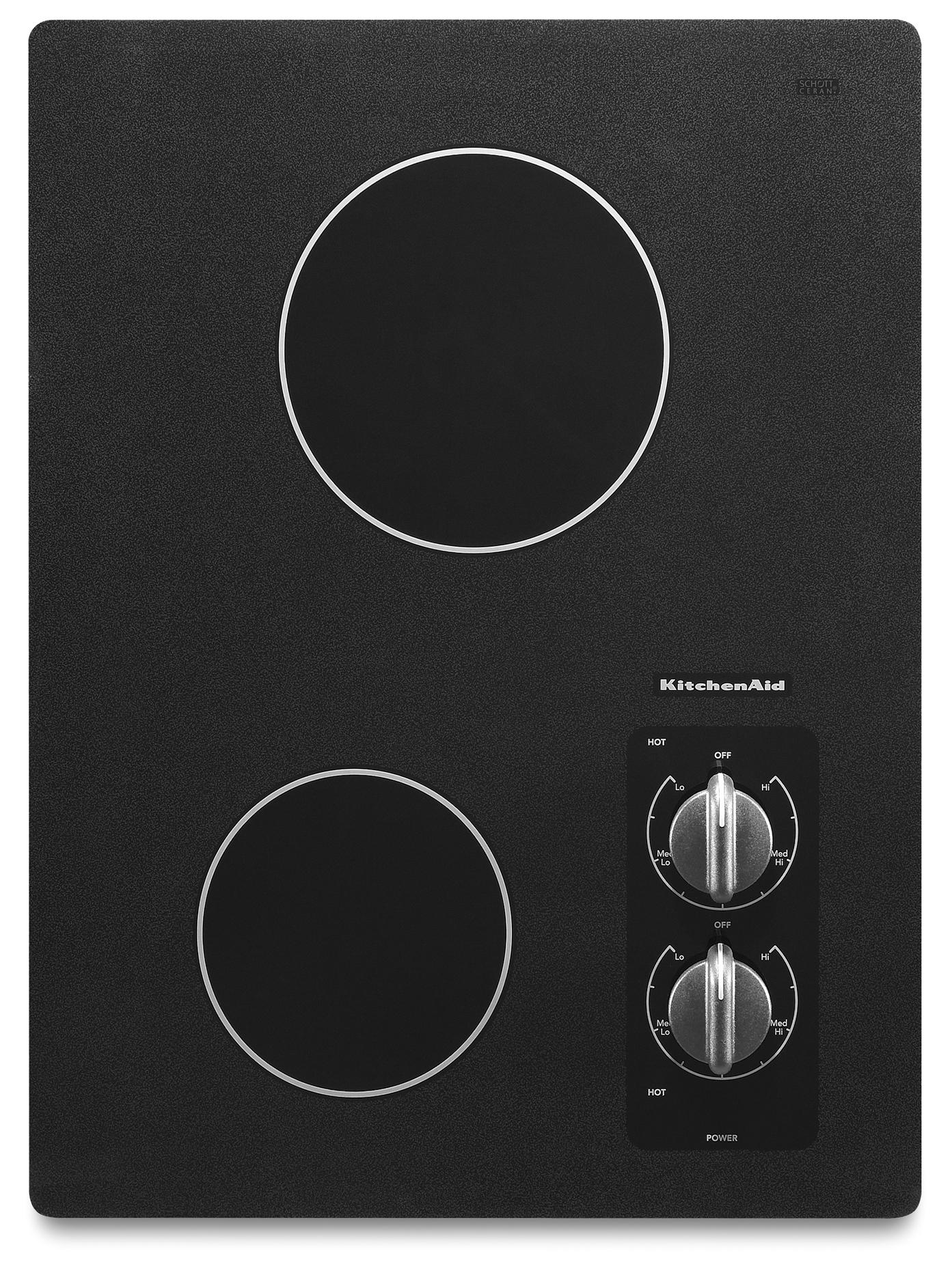 """KitchenAid Electric Cooktops 15"""" Built-In Electric Cooktop - Item Number: KECC056RBL"""