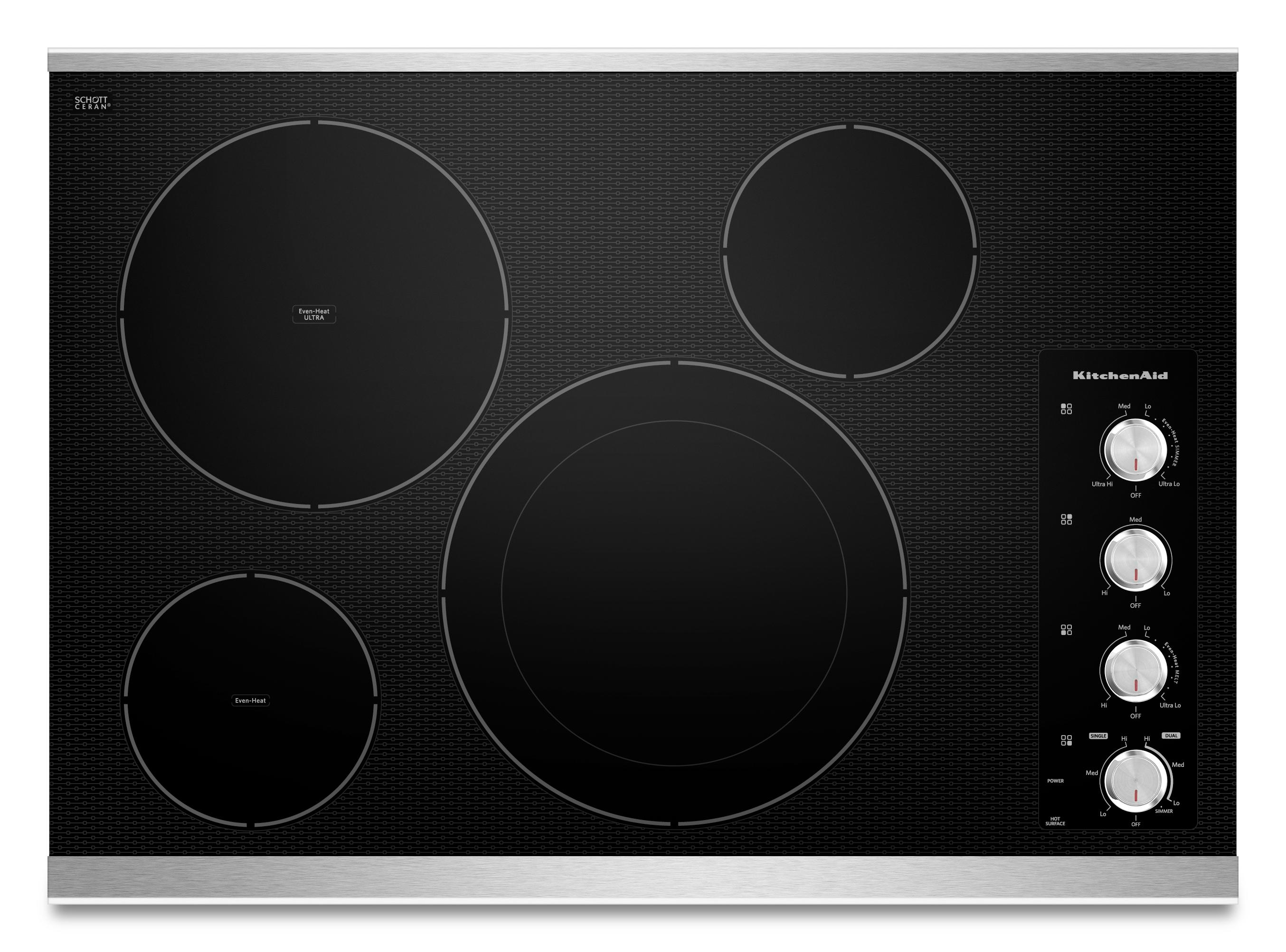 KitchenAid Electric Cooktops - Kitchenaid Built-In Electric Cooktop - Item Number: KECC604BSS