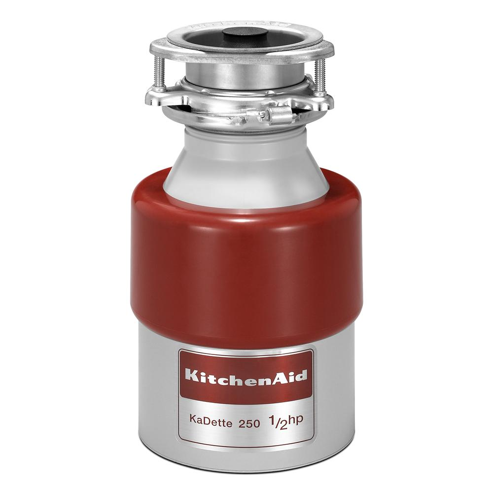 KitchenAid Food Disposals 1/2 HP Continuous Feed Disposer - Item Number: KCDB250G