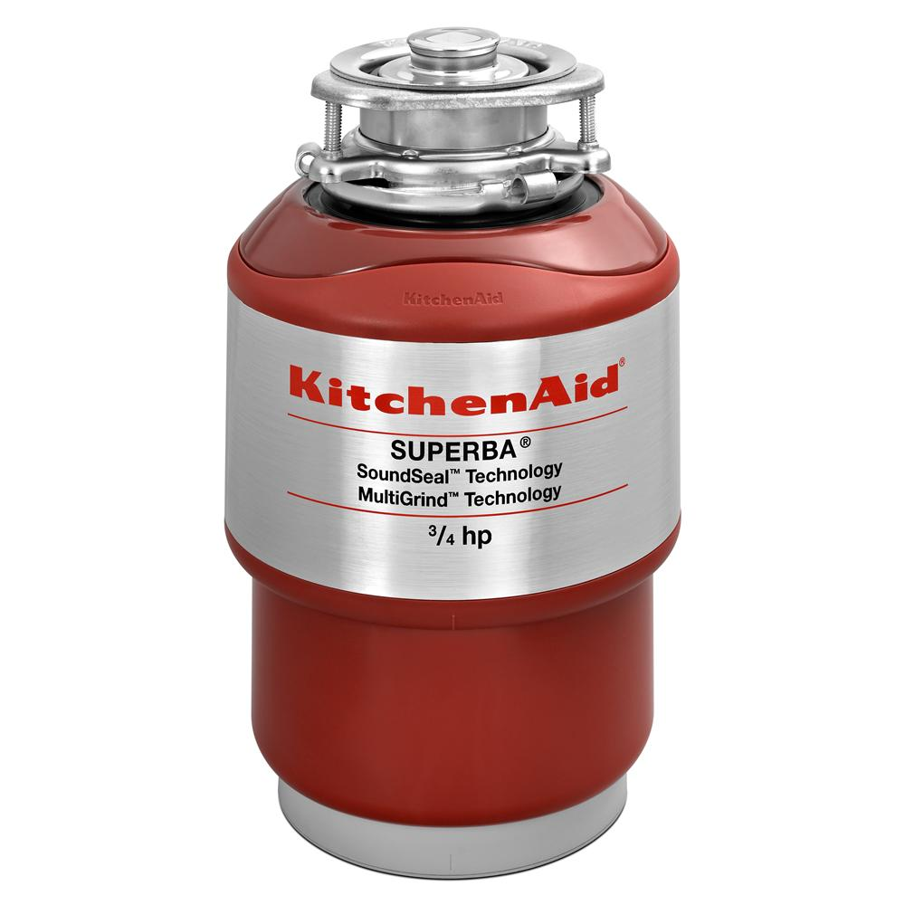 KitchenAid Food Disposals 3/4 HP Continuous Feed Disposer - Item Number: KCDS075T
