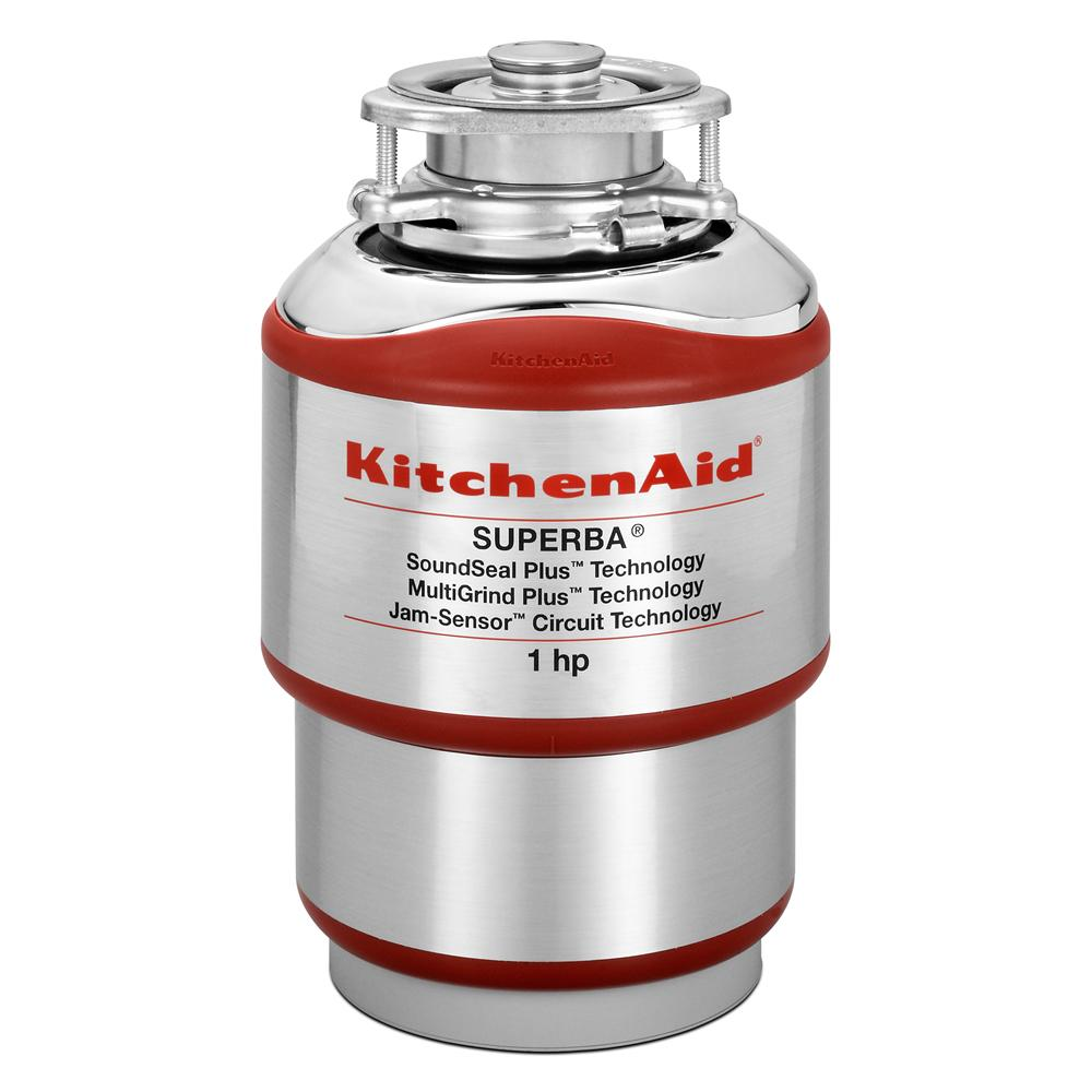 KitchenAid Food Disposals 1 HP Continuous Feed Disposer - Item Number: KCDS100T
