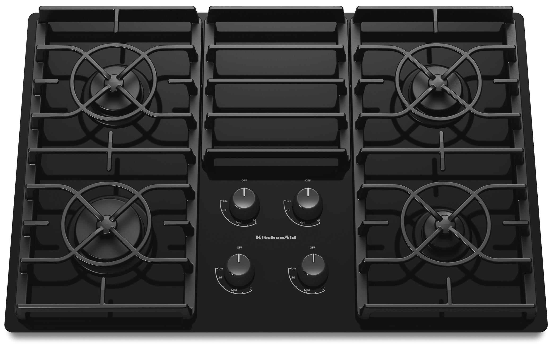 "KitchenAid Gas Cooktops 30"" Built-In Gas Cooktop - Item Number: KGCC506RBL"