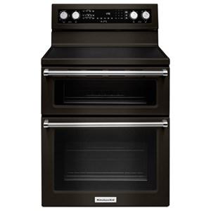 """KitchenAid KitchenAid Electric Ranges 30"""" 5 Burner Electric Double Convection Oven"""