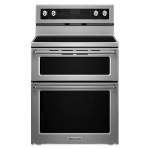 KitchenAid KitchenAid Electric Ranges 30-Inch 5 Burner Electric Double Oven Convec