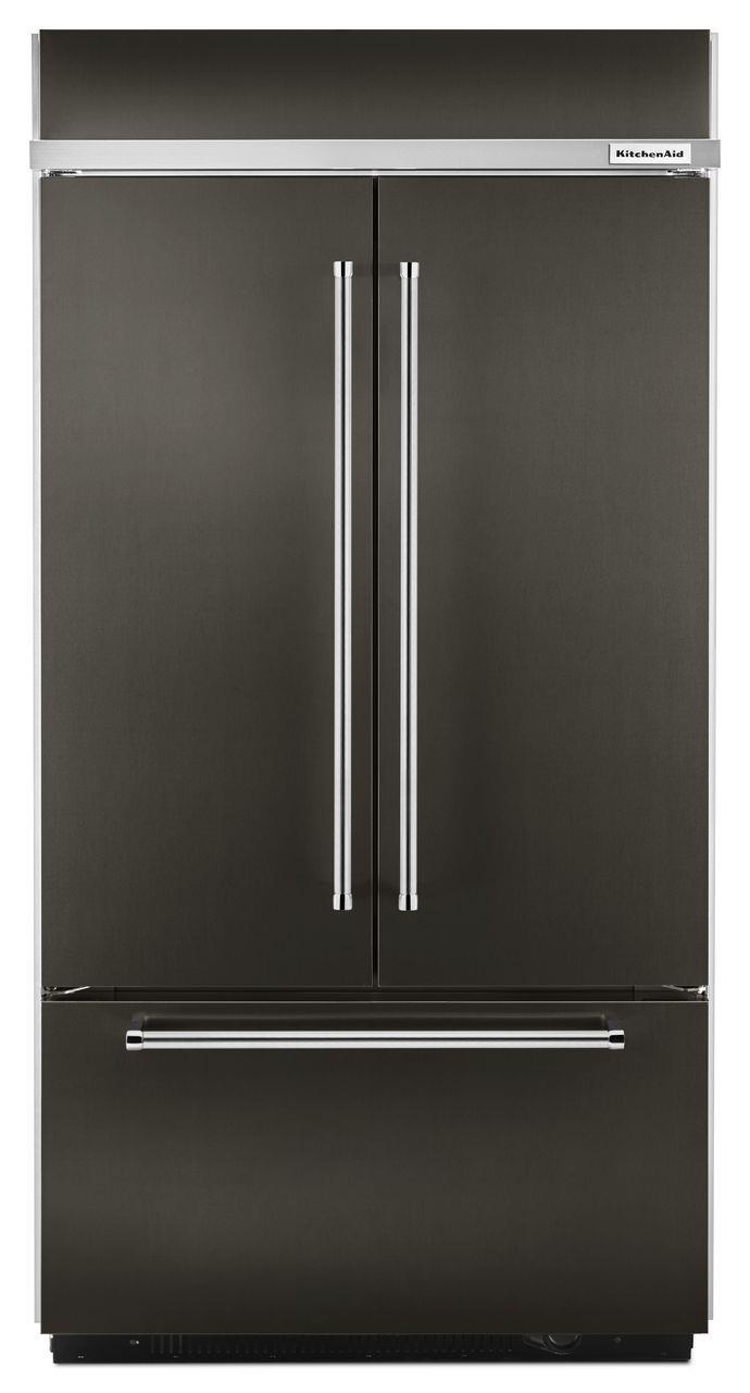 """KitchenAid KitchenAid French Door Refrigerators 42"""" Built-In French Door Refrigerator - Item Number: KBFN502EBS"""