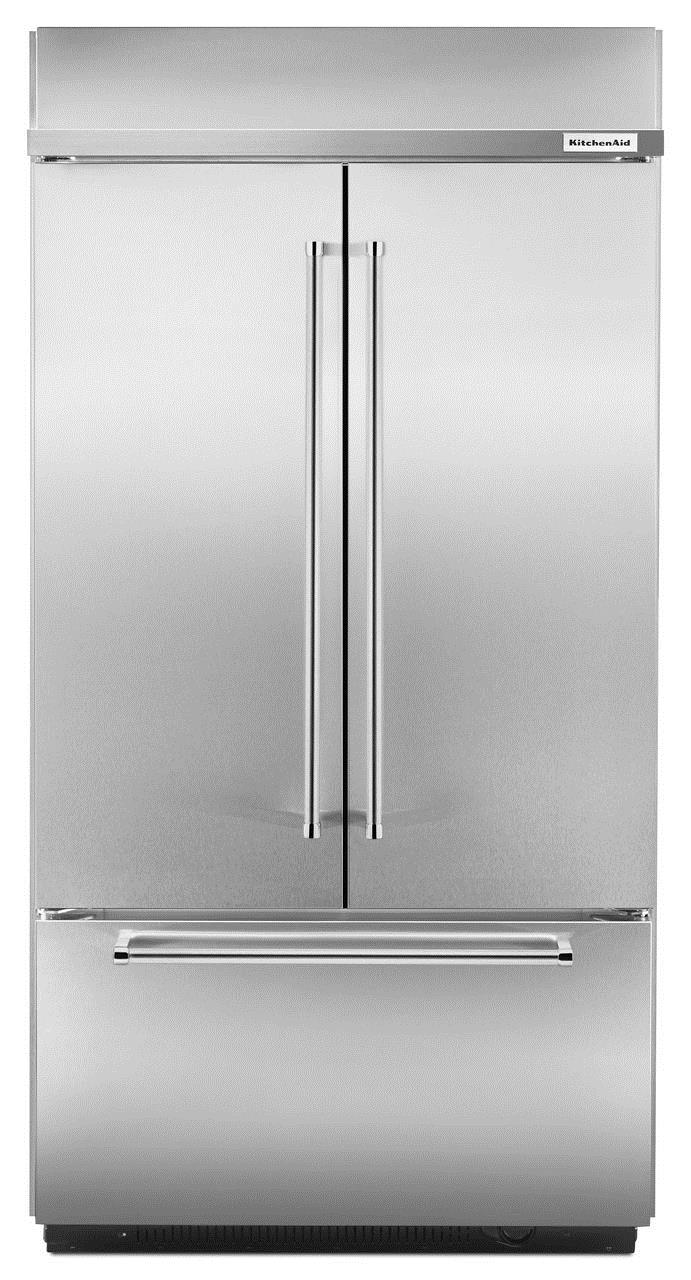 "KitchenAid KitchenAid French Door Refrigerators 42"" Built-In French Door Refrigerator - Item Number: KBFN502ESS"