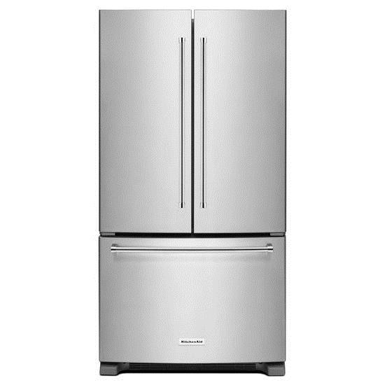 KitchenAid KitchenAid French Door Refrigerators 20 cu. ft. 36-Inch French Door Refrigerator - Item Number: KRFC300ESS