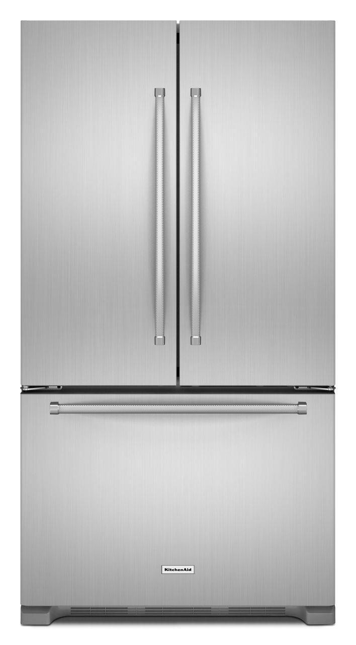 KitchenAid KitchenAid French Door Refrigerators 22 Cu. Ft. Counter Depth French Door Fridge - Item Number: KRFC302ESS