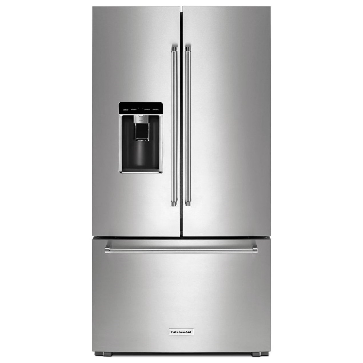 """Shop Kitchenaid 20 8 Cu Ft Built In French Door: KitchenAid 23.8 Cu.Ft. 36"""" Counter-Depth French Door Platinum Interior Refrigerator With"""