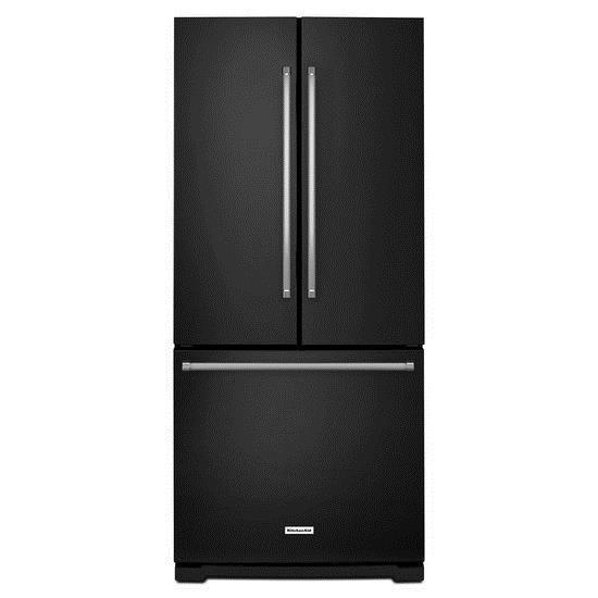 KitchenAid KitchenAid French Door Refrigerators 20 cu. Ft. 30-Inch French Door Refrigerator - Item Number: KRFF300EBL
