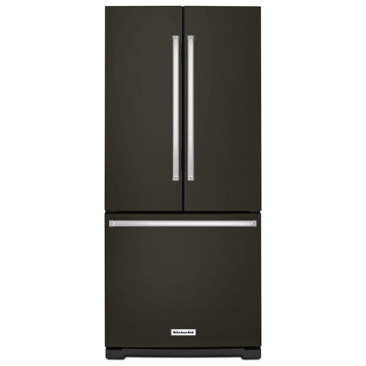 Krfc300ebs Kitchenaid 20 Cu Ft 36 Width Counter Depth: KitchenAid 20 Cu. Ft. 30-Inch Width Standard Depth French Door Refrigerator With Interior