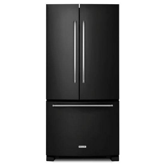 KitchenAid KitchenAid French Door Refrigerators 22 Cu. Ft. 33-Inch French Door Refrigerator - Item Number: KRFF302EBL