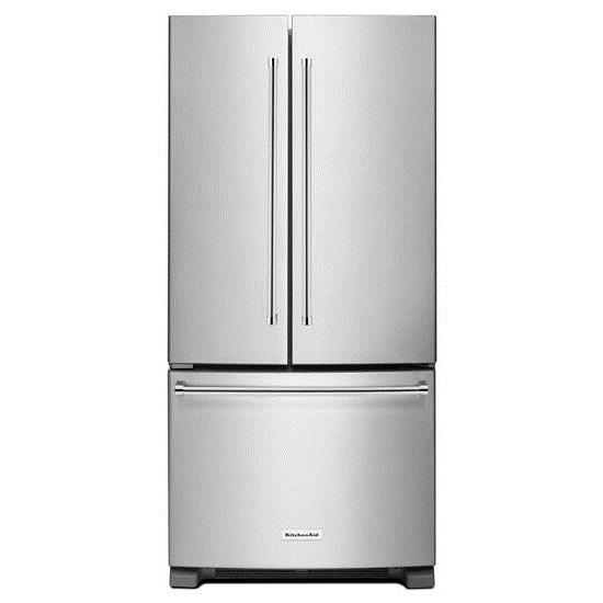 KitchenAid KitchenAid French Door Refrigerators 22 Cu. Ft. 33-Inch French Door Refrigerator - Item Number: KRFF302ESS