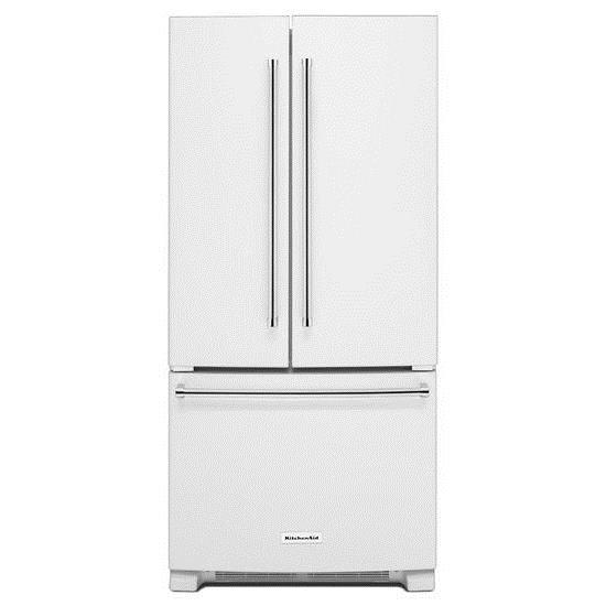 KitchenAid KitchenAid French Door Refrigerators 22 Cu. Ft. 33-Inch French Door Refrigerator - Item Number: KRFF302EWH