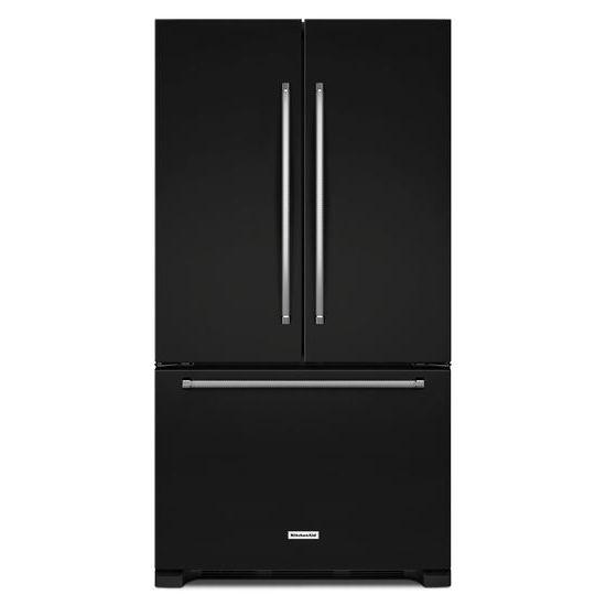 "KitchenAid KitchenAid French Door Refrigerators 25 Cu. Ft. 36"" French Door Refrigerator - Item Number: KRFF305EBL"