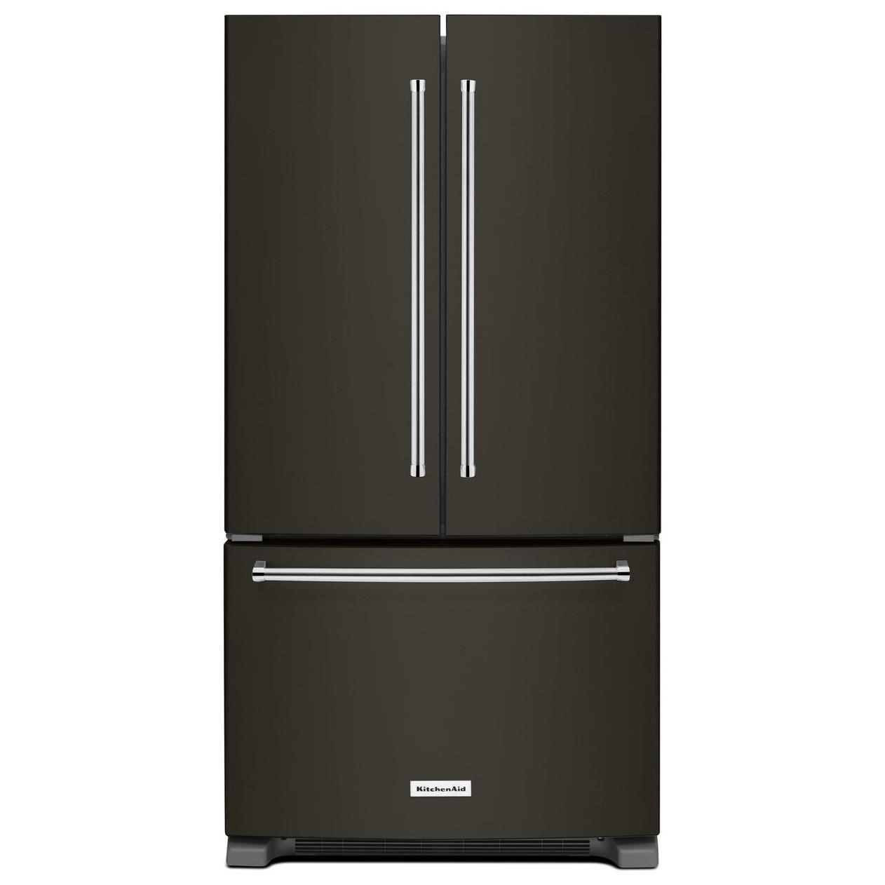 """KitchenAid KitchenAid French Door Refrigerators 25 Cu. Ft. 36"""" French Door Refrigerator - Item Number: KRFF305EBS"""