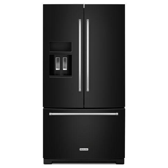 "KitchenAid KitchenAid French Door Refrigerators 26.8 cu. ft. 36"" French Door Refrigerator - Item Number: KRFF507EBL"