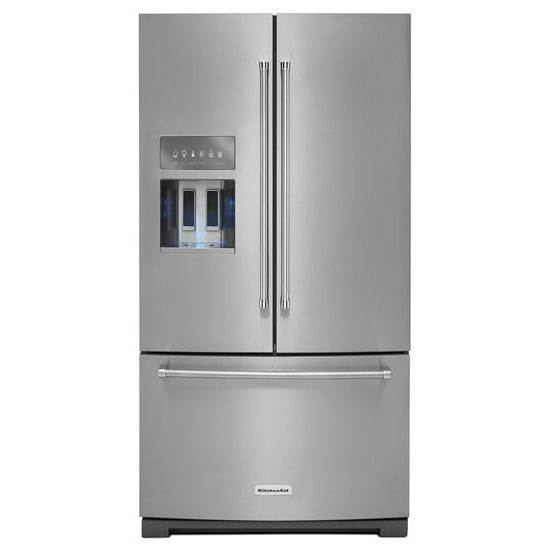 "KitchenAid KitchenAid French Door Refrigerators 26.8 cu. ft. 36"" French Door Refrigerator - Item Number: KRFF707ESS"