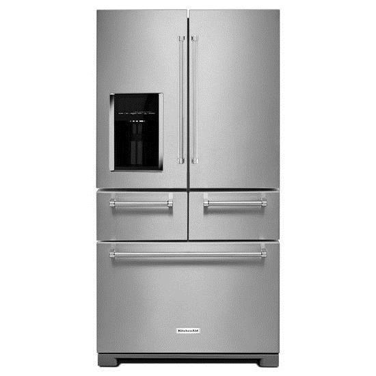 KitchenAid KitchenAid French Door Refrigerators 25.8 Cu. Ft. 36-Inch Refrigerator - Item Number: KRMF606ESS